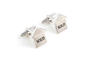 Just Real Estate Marketing Mens Cufflinks