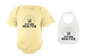 Future Realtor shirt & bib