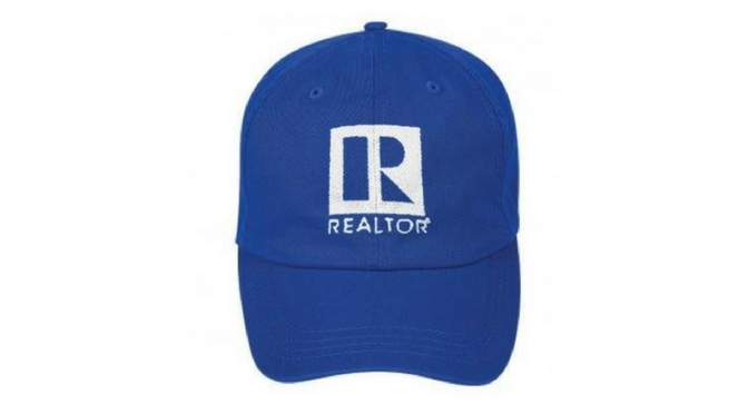 Blue Realtor Logo Hat - Just Real Estate Marketing 63c63f57b9d7
