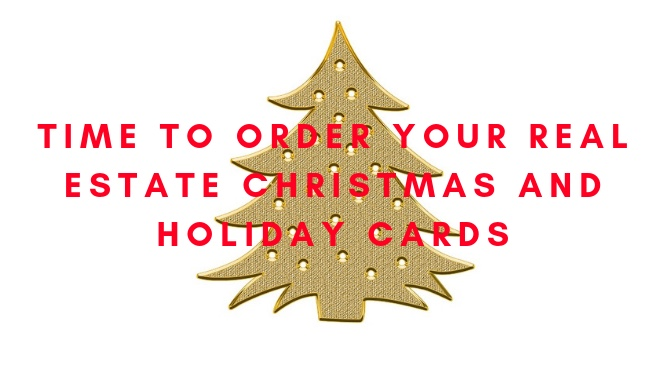 Gold Christmas Tree - Time to Order Your Real Estate Christmas and Holiday Cards