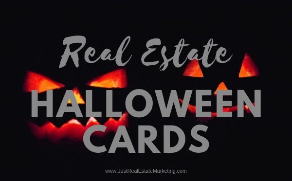 Real Estate Halloween Cards - Scary Pumpkin Eyes