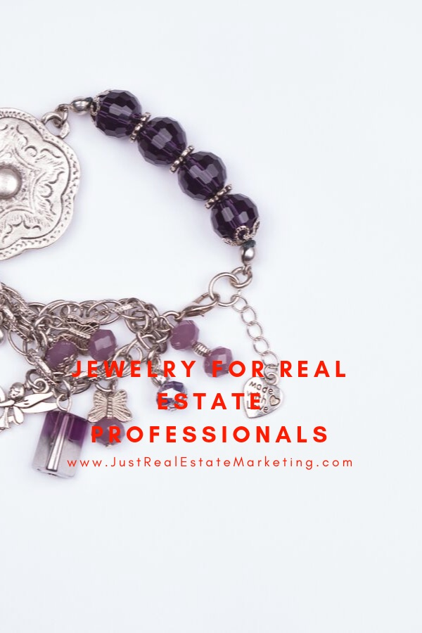 Jewelry for Real Estate Professionals overlay on fancy Mom bracelt